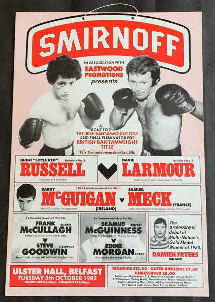 MCGUIGAN, BARRY-JIMMY DUNCAN ON SITE POSTER (1982)