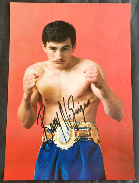 MCGUIGAN, BARRY SIGNED PHOTO POSTER