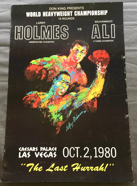 ALI, MUHAMMAD-LARRY HOLMES ON SITE POSTER (1980)