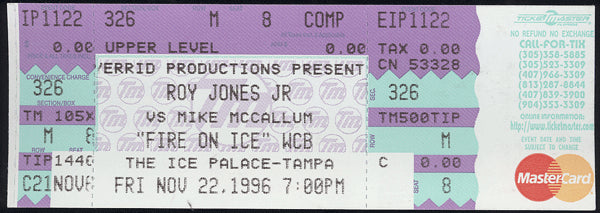 JONES, JR., ROY-MIKE MCCALLUM FULL TICKET (1996)