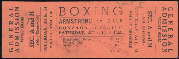 ARMSTRONG, HENRY-JOEY SILVA FULL TICKET (1943)