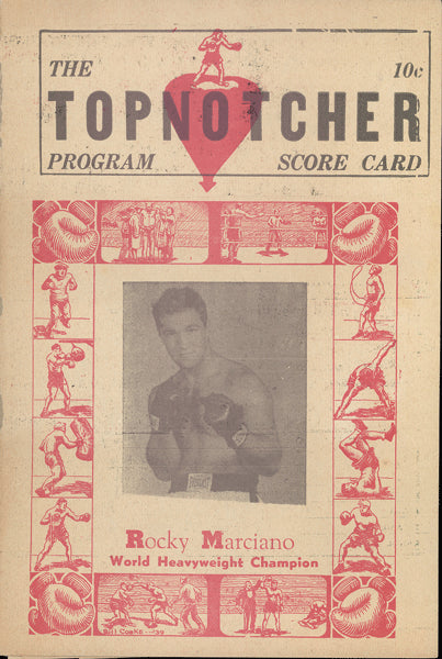 PATTERSON, FLOYD-JOEY MAXIM OFFICIAL PROGRAM (1954)