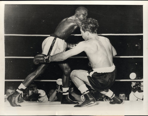 CARTER, JIMMY-PADDY DEMARCO WIRE PHOTO (1954-9TH ROUND)