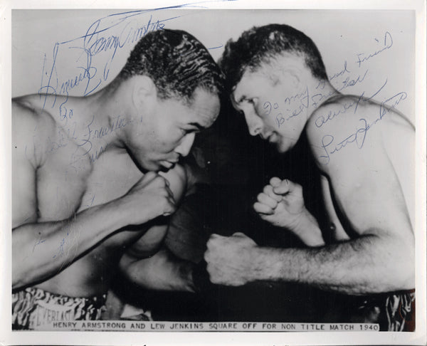 ARMSTRONG, HENRY & LEW JENKINS SIGNED PHOTO