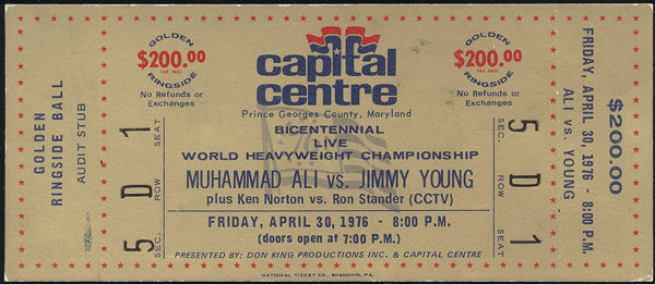 ALI, MUHAMMAD-JIMMY YOUNG FULL TICKET (1976)
