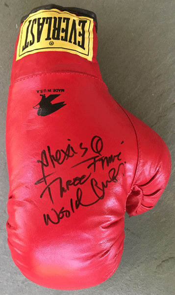"ARGUELLO, ALEXIS ""THREE TIME WORLD CHAMP"" SIGNED GLOVE"