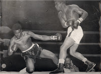 "PATTERSON, FLOYD-TOMMY ""HURRICANE"" JACKSON LARGE FORMAT WIRE PHOTO (1957-JACKSON DOWN)"