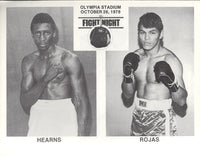 HEARNS, TOMMY-PEDRO ROJAS OFFICIAL PROGRAM (1978)