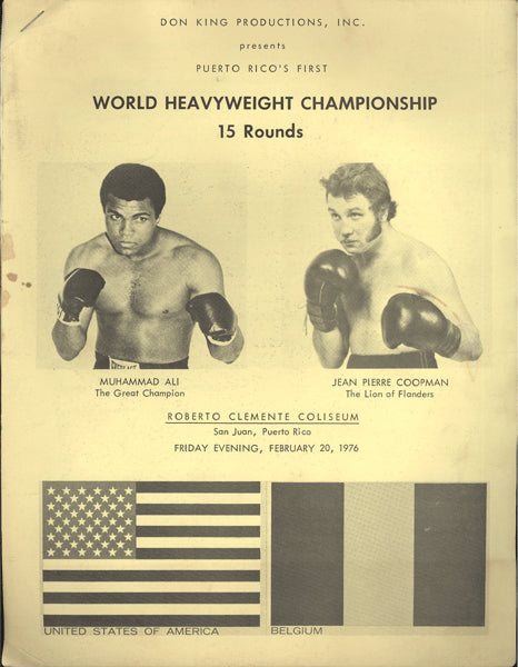 ALI, MUHAMMAD-JEAN PIERRE COOPMAN PRESS KIT (1976)