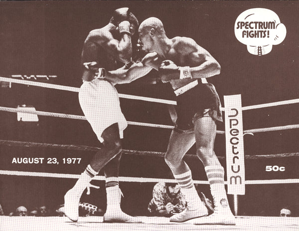 "HAGLER, MARVIN-WILLIE ""THE WORM"" MONROE & MICHAEL SPINKS-JASPAR BRISBANE OFFICIAL PROGRAM (1977)"