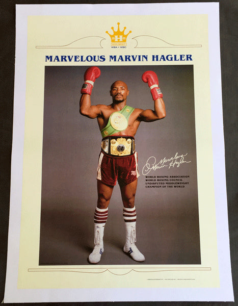 HAGLER, MARVELOUS MARVIN PROMOTIONAL POSTER (AS WORLD CHAMPION)