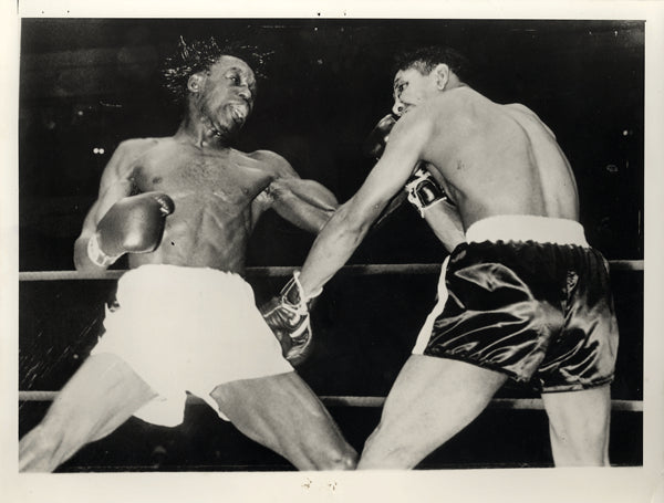 BROWN, JOE-JOEY LOPES WIRE PHOTO (1957-8TH ROUND)