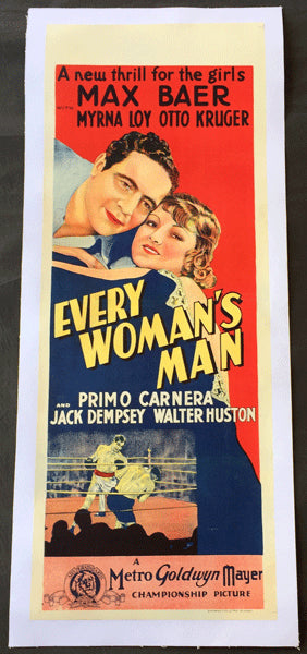 BAER, MAX & PRIMO CARNERA EVERY WOMAN'S MAN MOVIE POSTER (1933)