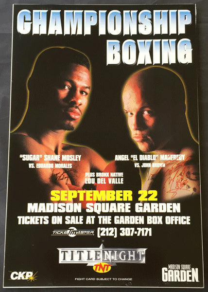 MOSLEY, SUGAR SHANE-ANGEL MANFREDDY SIGNED POSTER (1998-SIGNED BY BOTH)