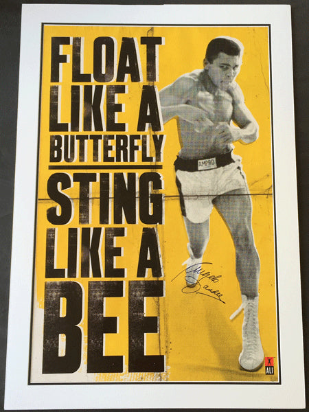 ALI, MUHAMMAD PROMOTIONAL POSTER (SIGNED BY ANGELO DUNDEE)