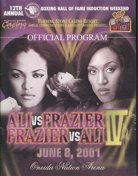 ALI, LAILA-JACQUI FRAZIER OFFICIAL PROGRAM (2001)