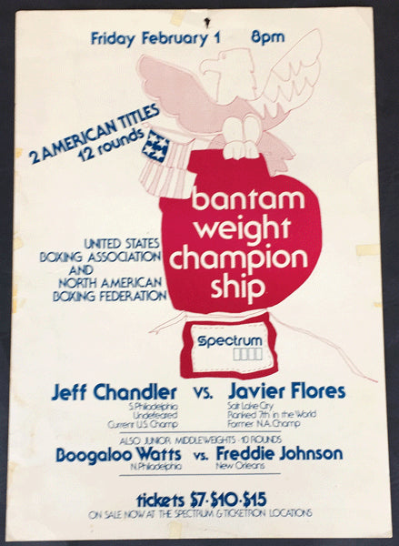 "CHANDLER, JEFF-JAVIER FLORES & BOBBY ""BOOGALOO"" WATTS-FRED JOHNSON ON SITE POSTER (1980)"