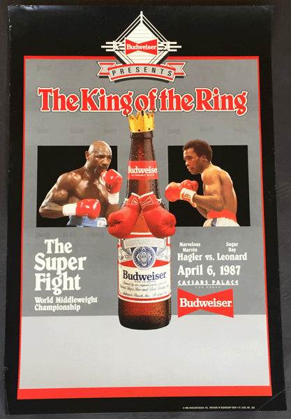 LEONARD, SUGAR RAY-MARVIN HAGLER BUDWEISER ADVERTISING POSTER (1987)