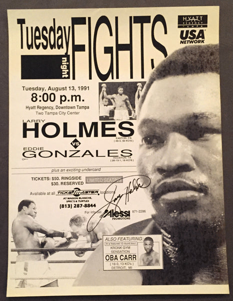 HOLMES, LARRY-EDDIE GONZALES ON SITE POSTER (1991)