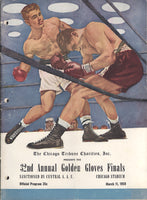 CLAY, CASSIUS GOLDEN GLOVES FINALS PROGRAM (1959)