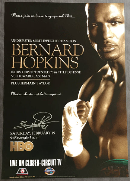 HOPKINS, BERNARD-HOWARD EASTMAN SIGNED CLOSED CIRCUIT POSTER (