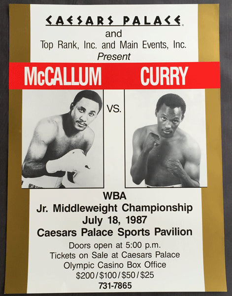 MCCALLUM, MIKE-DON CURRY ON SITE POSTER (1987)