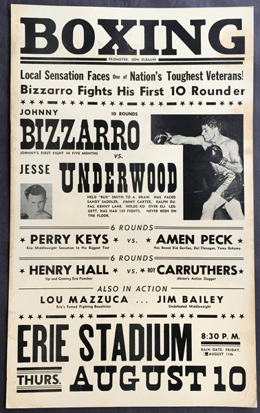 BIZZARRO, JOHNNY-JESSE UNDERWOOD ON SITE POSTER (1961)