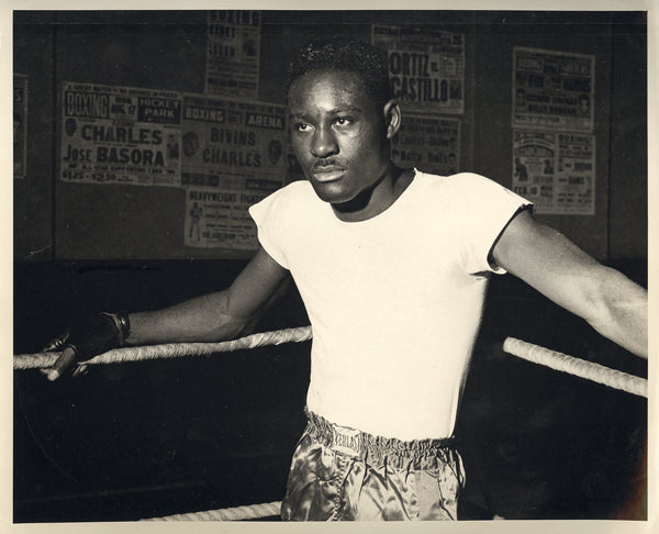 CHARLES, EZZARD ORIGINAL TRAINING PHOTO (1940'S)