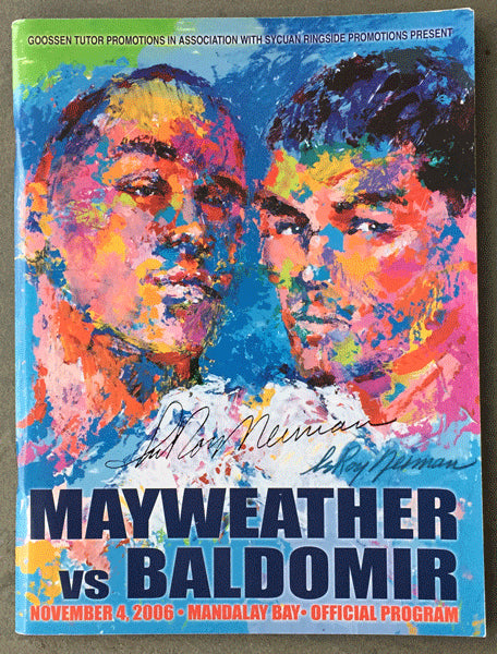MAYWEATHER, FLOYD-CARLOS BALDOMIR SIGNED OFFICIAL PROGRAM (2006-SIGNED BY LEROY NEIMAN)