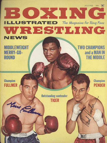 FULLMER, GENE & PAUL PENDER SIGNED BOXING ILLUSTRATED COVER