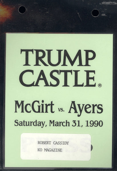 MCGIRT, BUDDY-TOMMY AYERS CREDENTIAL (1990)