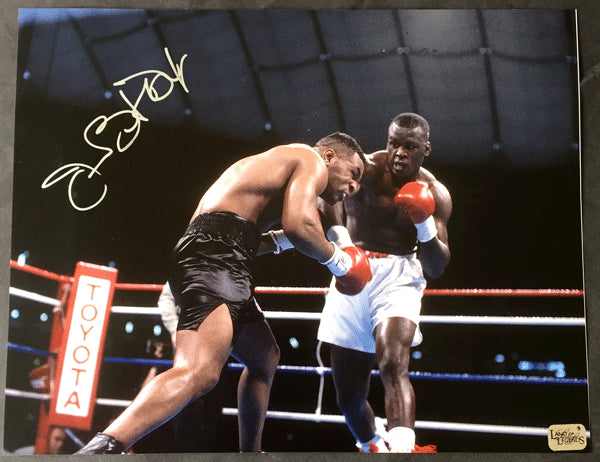 "DOUGLAS, JAMES ""BUSTER LARGE FORMAT SIGNED PHOTO (TYSON FIGHT)"