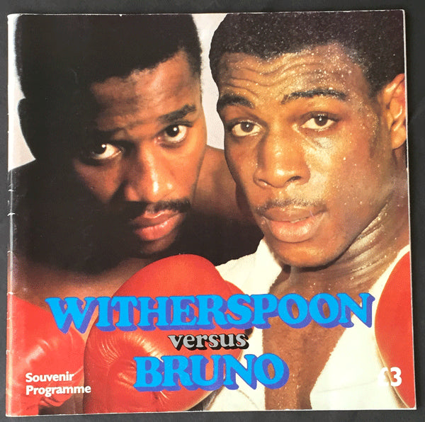WITHERSPOON, TIM-FRANK BRUNO OFFICIAL PROGRAM (1986)