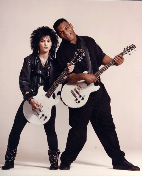 TYSON, MIKE & JOAN JETT ORIGINAL PHOTO (1986)