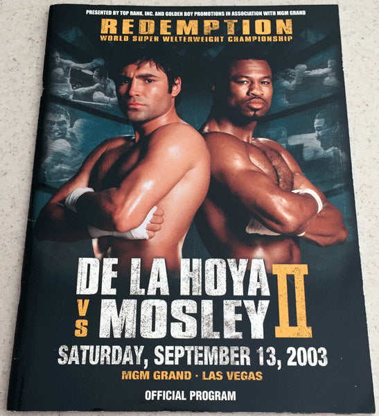 DE LA HOYA, OSCAR-SHANE MOSLEY II OFFICIAL PROGRAM (2003)