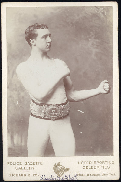 MITCHELL, CHARLIE CABINET CARD