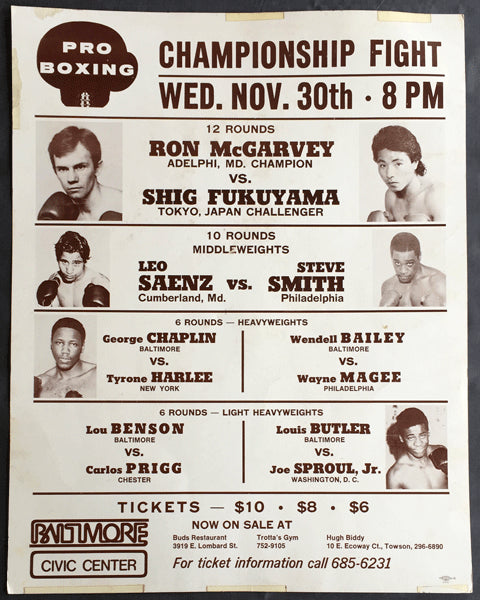 MCGARVEY, RON-SHIG FUKUYAMA ON SITE POSTER (1977)