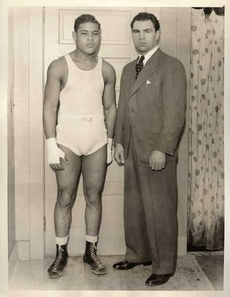 LOUIS, JOE & MAX SCHMELING ORIGINAL WIRE PHOTO (1935)