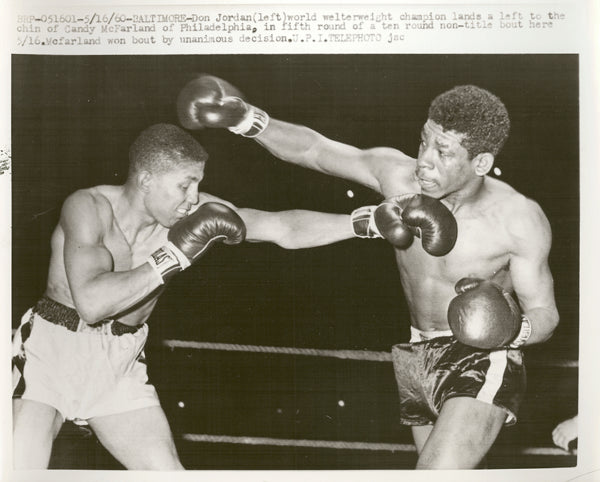 JORDAN, DON-CANDY MCFARLAND WIRE PHOTO (1960-5TH ROUND)