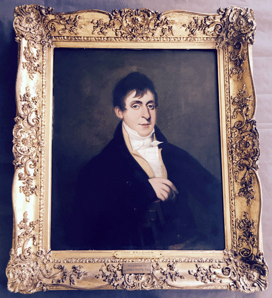 BELCHER, JEM 1805 OIL PAINTING FROM NATIONAL SPORTING CLUB IN ENGLAND