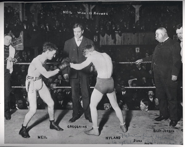 HYLAND, FIGHTING DICK SIGNED PHOTO