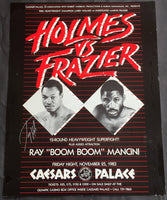 HOLMES, LARRY-MARVIS FRAZIER SIGNED ON SITE POSTER (1983)