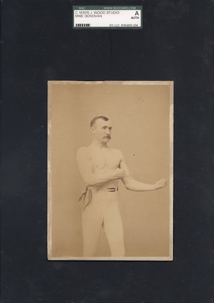 DONOVAN, MIKE CABINET CARD (SGC AUTHENTICATED)
