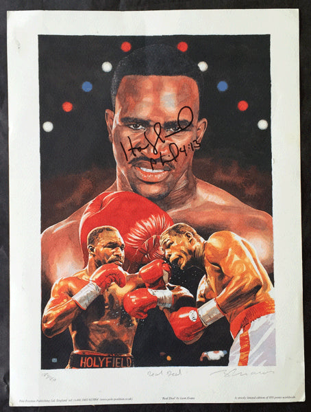 HOLYFIELD, EVANDER SIGNED LIMITED EDITION PRINT