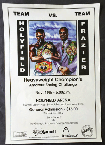 HOLYFIELD TEAM VS. FRAZIER TEAM AMATEUR BOXING POSTER