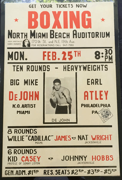 DEJOHN, MIKE-EARL ATLEY ON SITE POSTER (1963)
