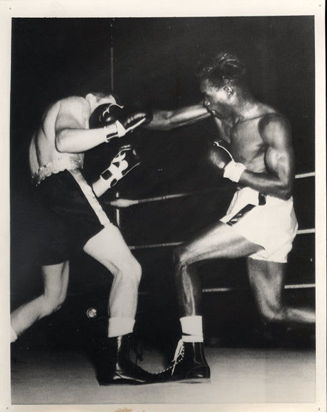 BROWN, JOE-KENNY LANE WIRE PHOTO (1958-1ST ROUND)