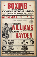 WILLIAMS, CLEVELAND-JOHNNY HAYDEN ON SITE POSTER (1960)