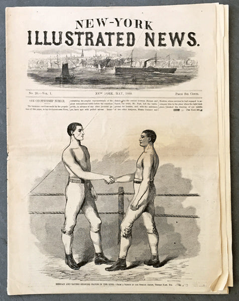 HEENAN, JOHN-TOM SAYERS NEW YORK ILLUSTRATED NEWS COMPLETE NEWSPAPER (1860)