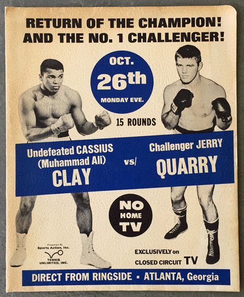 ALI, MUHAMMAD-JERRY QUARRY I PRESS KIT (1970)